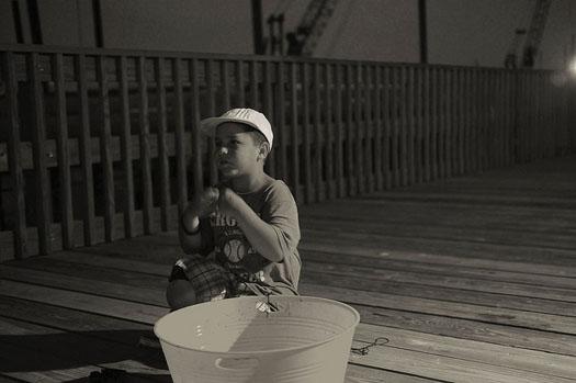 Kid on the Bridge - Grand Isle, LA