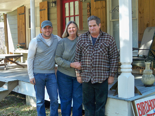 Brandon, Lori and Dennis in Coden, AL
