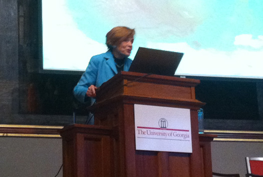 Sylvia Earle at UGA Oil Spill Symposium